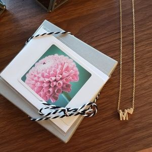 Jewelry - Initial Necklace ANY LETTER Gift Boxed With Card